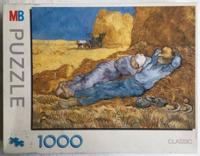 Image of the puzzle 1000, MB, Noon: Rest from Work, Complete, Picture of the Box