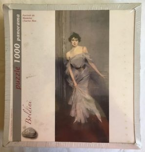 Image of the puzzle 1000, Art Stones, Portrait of Madame Charles Max, Giovanni Boldini, Factory Sealed