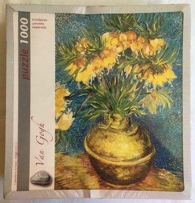 Image of the puzzle 1000, Art Stones, Imperial Fritillaries in a Copper Vase, Vincent van Gogh, Factory Sealed