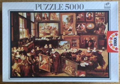 Image of the puzzle 5000, Educa, The Gallery of Cornelis van der Geest, by Willem van Haecht, Sealed Bag, Picture of the box