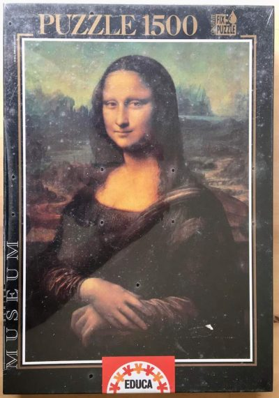 Image of the puzzle 1500, Educa, La Gioconda, by Leonardo da Vinci, Factory Sealed