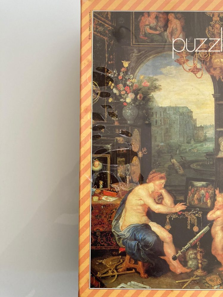 Image of the puzzle 1500, Educa, The View, Jan Brueghel the Elder, Factory Sealed, Detail of the box