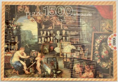 Image of the puzzle 1500, Educa, The View, Jan Brueghel the Elder, Factory Sealed, Picture of the box
