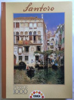 Image of the Puzzle 1000, Educa, A Canal Scene, Sealed Bag, Picture of the Box