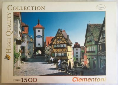 Image of the Puzzle 1500, Clementoni, Rothenburg, Complete, Picture of the Box