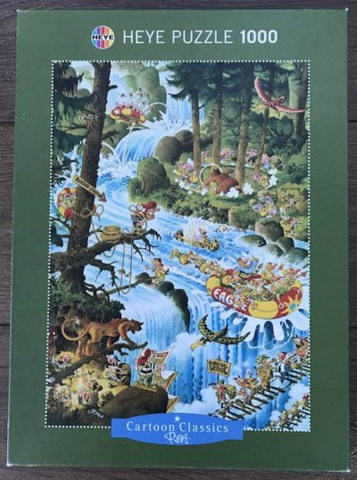 Image of the puzzle 1000, Heye, Action, by Micahel Ryba, Complete, Picture of the box