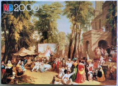 Image of the puzzle 2000, MB, Fair in the Champs-Élysées, by William Parrott, Sealed Bag, Picture of the box