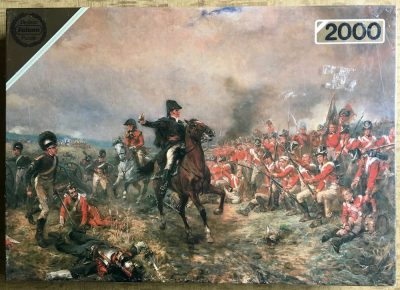 Image of the puzzle 2000, Falcon, Battle of Waterloo, by Robert Hillingford, Factory Sealed