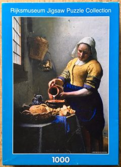 Image of the puzzle 1000, Puzzelman, The Milkmaid, by Johannes Vermeer, Picture of the box