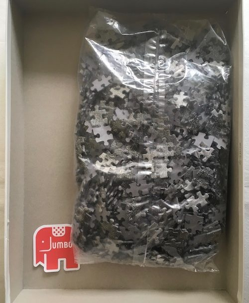 Image of the Puzzle 1000, Jumbo, Hand with Globe, Sealed Bag, Picture of the Bag