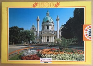 Image of the Puzzle 1500, Educa, Karlskirche, Vienna, Complete, Picture of the Box