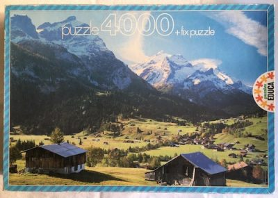 Image of the Puzzle 4000, Educa, Gstaad and the Diablerets, Switzerland, Complete, Picture of the Box
