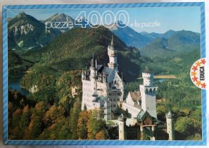 Image of the Puzzle 4000, Educa, Neuschwanstein Castle, Germany, Sealed Bag, Picture of the Box