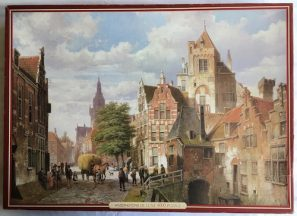 Image of the Puzzle 4000, Waddingtons, A Street Scene in Amsterdam, Sealed Bag, Picture of the Box