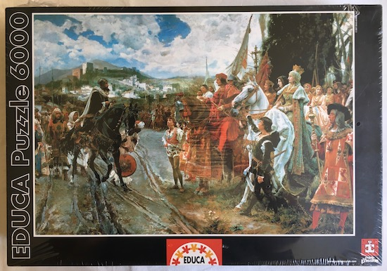 Image of the Puzzle 6000, Educa, The Capitulation of Granada, Factory Sealed