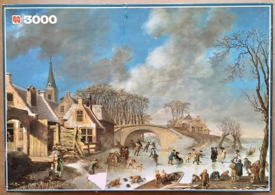 Image of the puzzle 3000, Jumbo, Winter Amusements, Complete, Picture of the box