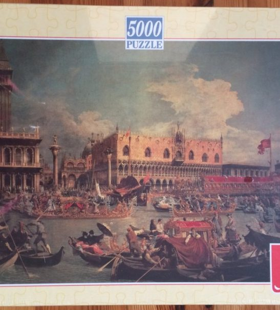 Image of the puzzle 5000, F.X. Schmid, Return of the Bucentaur to the Molo on Ascension Day, by Canaletto, Factory Sealed, Picture of the box