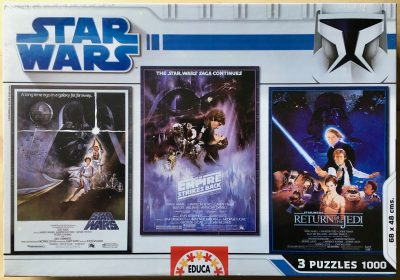 Image of the puzzle 3x1000, Educa, Star Wars Classic Trilogy, Factory Sealed, Listed by Jorge