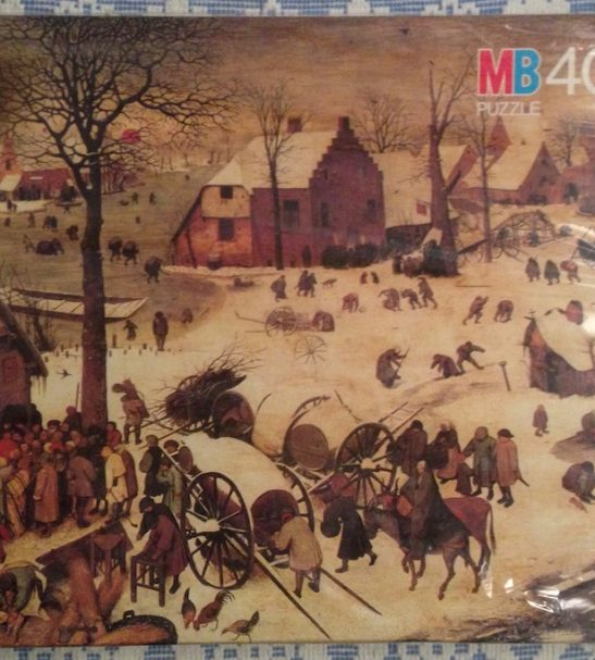 Image of the Puzzle 4000, MB, The Census at Bethlehem, Factory Sealed, Picture of the Front