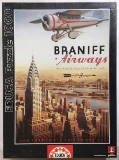 Image of the Puzzle 1000, Educa, Braniff Airways, Factory Sealed