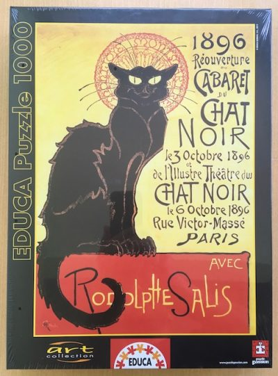 Image of the Puzzle 1000, Educa, Reopening of the Chat Noir Cabaret, Factory Sealed