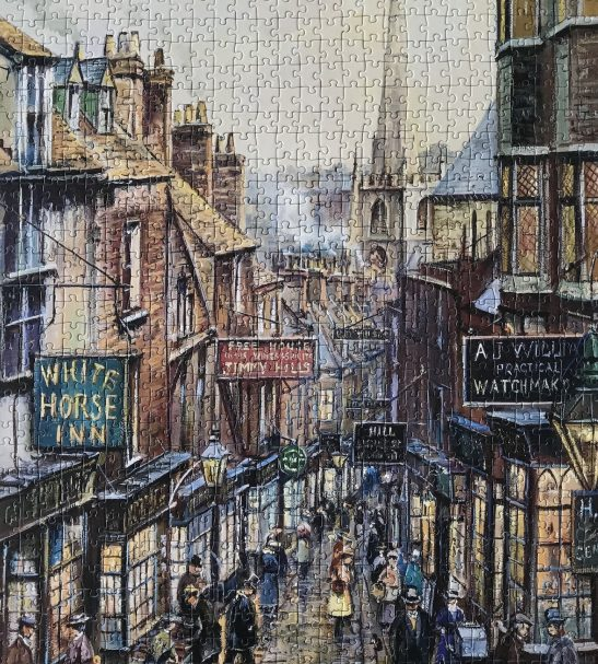 Image of the Puzzle 1000, Ravensburger, Christmas Steps, Complete, Image of the Puzzle Assembled