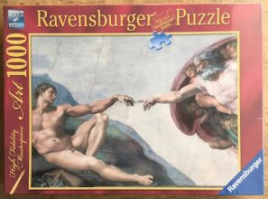 Image of the Puzzle 1000, Ravensburger, The Creation of Adam, Factory Sealed