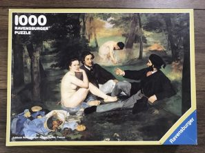 Image of the Puzzle 1000, Ravensburger, The Luncheon on the Grass, Complete, Picture of the Box