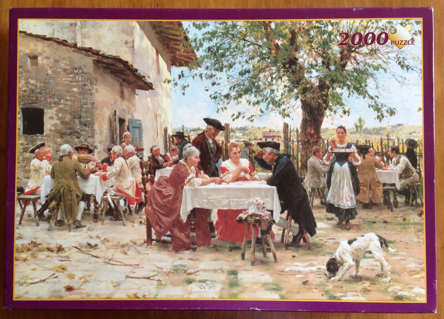 Image of the Puzzle 2000, Fame, The Game of Cards, by Raffaello Sorbi, Picture of the Box
