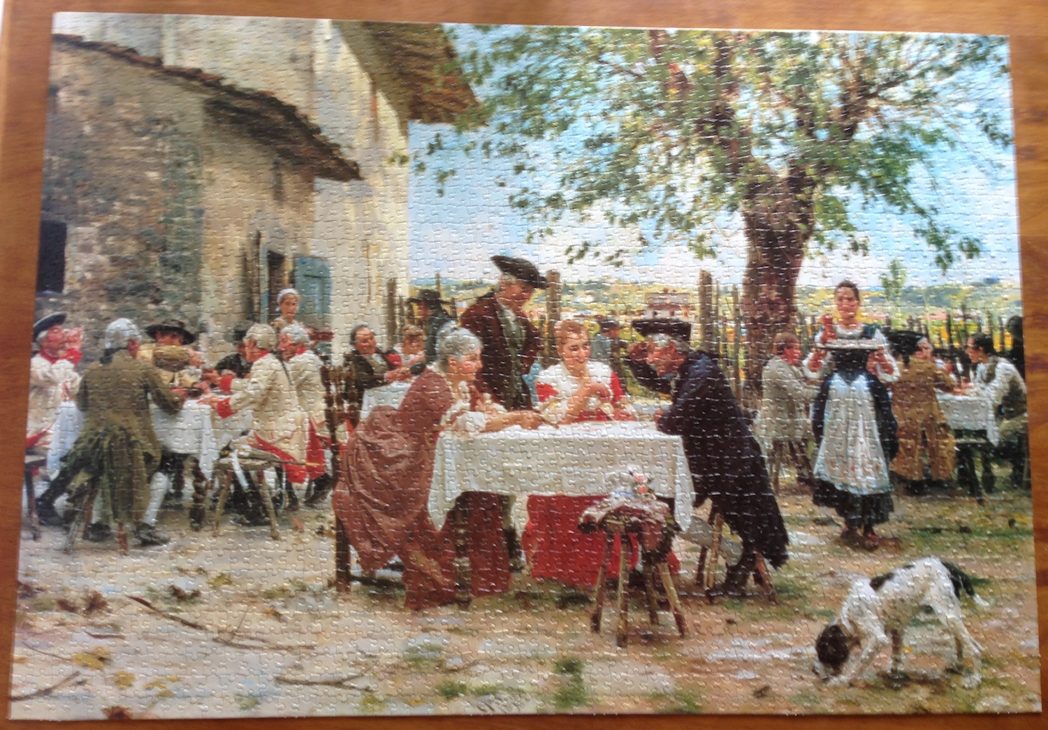 Image of the Assembled Puzzle 2000, Fame, The Game of Cards, by Raffaello Sorbi