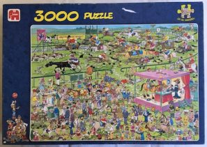 Image of the Puzzle 3000, Jumbo, Ascot Horse Racing, Complete, Picture of the Box