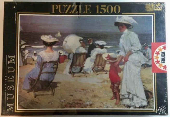 Image of the puzzle 1500, Educa, The Beach, by Charles Hoffbauer, Factory Sealed