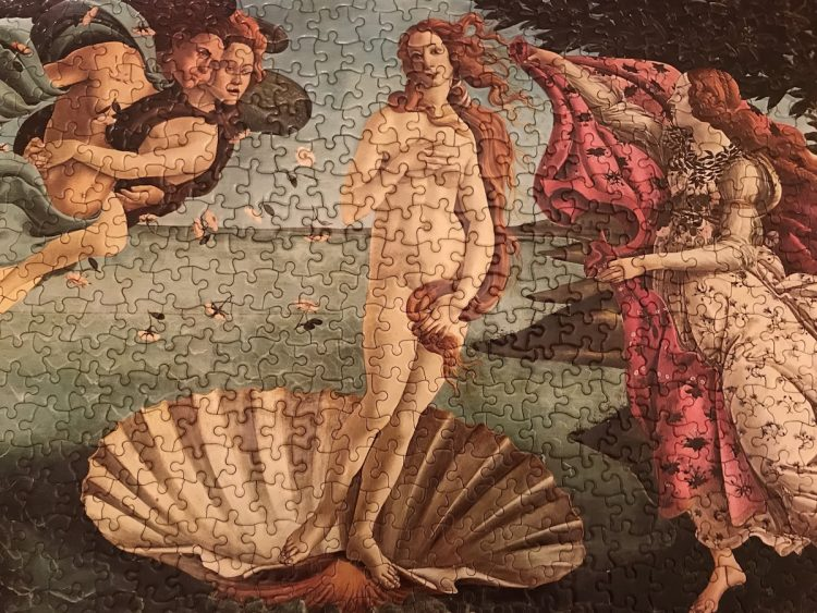 Image of the Puzzle 450, Waddington, The Birth of Venus, Complete, Picture of the Puzzle Assembled