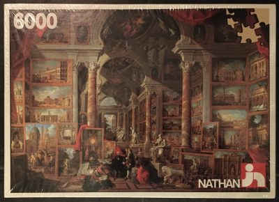 Image of the puzzle 6000, Nathan, Picture Gallery, by Giovanni Paolo Panini, Factory Sealed