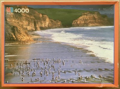 Image of the puzzle 4000, MB, Drakes Beach, California, David Muench, Sealed Bag, Picture of the box
