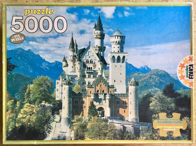 Image of the puzzle 5000, Educa, Neuschwanstein Castle (7995), Picture of the box