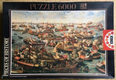 Image of the puzzle 6000, Educa, The Battle of Lepanto, by H. Letter, Picture of the box