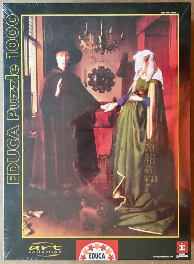 Image of the puzzle 1000, Educa, The Arnolfini Portrait, by Jan Van Eyck, Factory Sealed