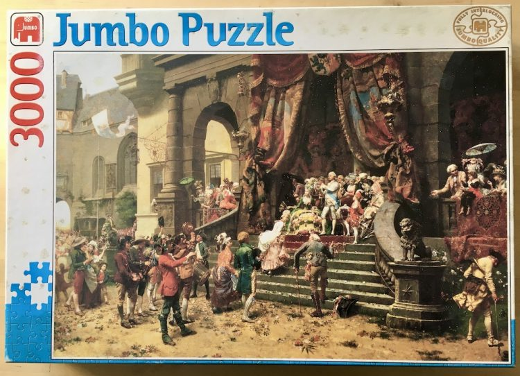 Image of the puzzle 3000, Jumbo, The Celebration, by Oreste Cortazzo, Sealed Bag, Picture of the box