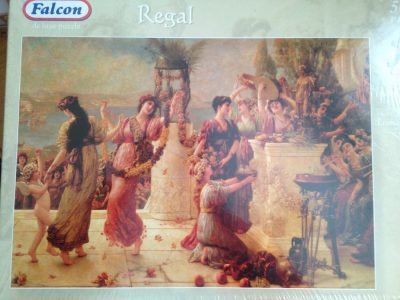 Image of the puzzle 5000, Falcon, A Harvest Festival, by Émile Eisman-Semenowsky, Factory Sealed, Picture of the box