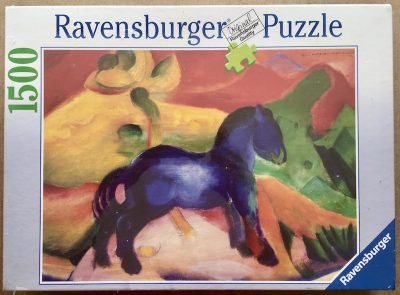 Image of the puzzle 1500, Ravensburger, The Little Blue Horse, Franz Marc, Factory Sealed
