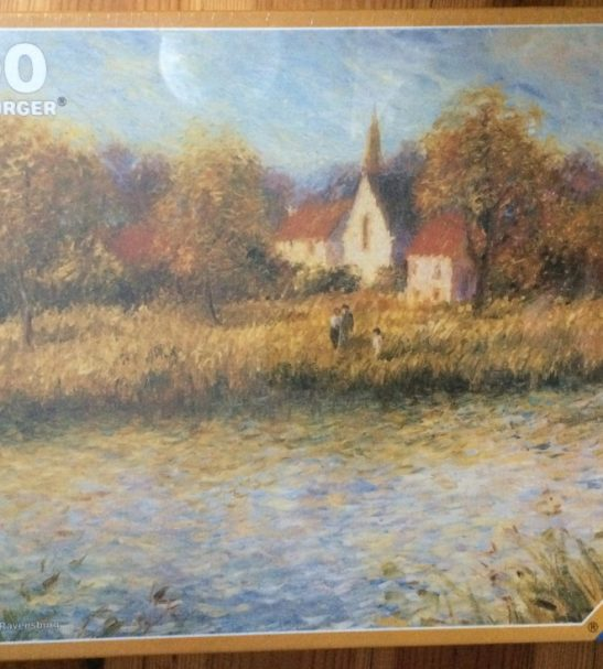 Image of the Puzzle 1000, Ravensburger, River Landscape, Factory Sealed, Image of the Box
