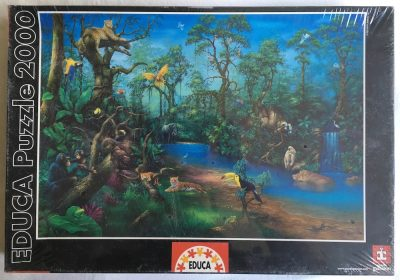 Image of the Puzzle 2000, Educa, Rainforest Fantasy, Factory Sealed