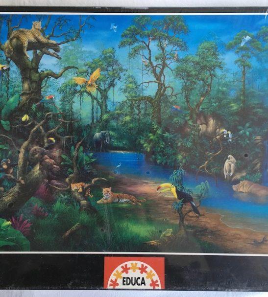 Image of the Puzzle 2000, Educa, Rainforest Fantasy, Factory Sealed