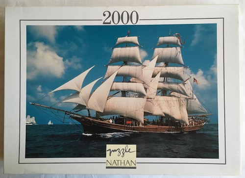Image of the puzzle 2000, Nathan, Sailing Ship Unicorn, Sealed Bag, Picture of the box
