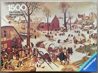 Image of the puzzle 1500, Ravensburger, Winter Scene, by Pieter Brueghel the Younger, Complete, Picture of the box