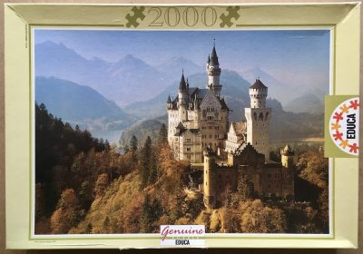 Image of the puzzle 2000, Educa, Neuschwanstein, Germany, Complete, Picture of the box