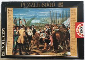 Image of the Puzzle 6000, Educa, The Surrender of Breda, by Diego Velázquez, Sealed Bag, Picture of the Box