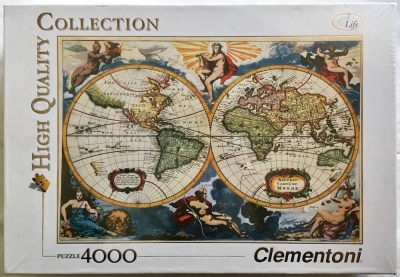 Image of the puzzle 4000, Clementoni, Old Map, Frederick de Wit, Factory Sealed, picture of the box