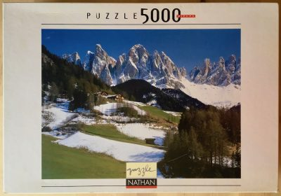 Image of the puzzle 5000, Nathan, The Last Snow, by Bildagentur Huber, Sealed Bag, Picture of the box